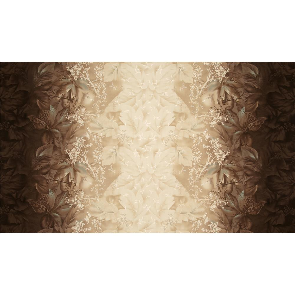 Daiwabo Double Border Floral Brown