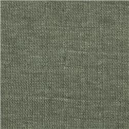 Cotton Poly Thermal Knit Dark Sage