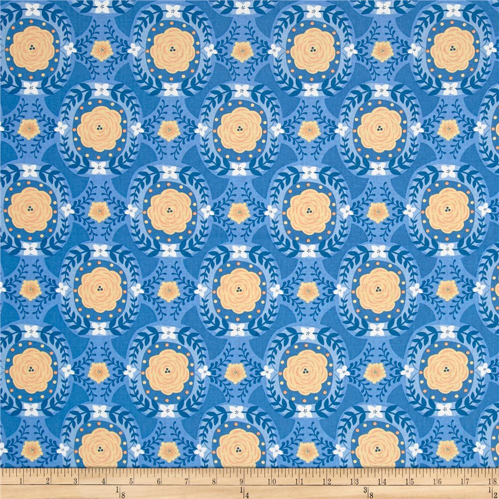 Do What You Love Damask Blue