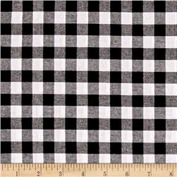 "Cotton + Steel Checkers Yarn Dyed Woven 1/2"" Black"