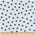 Oil Cloth Polka Dot White/Blue