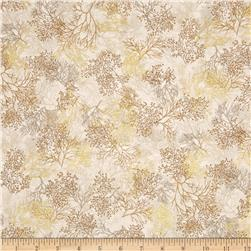 Robert Kaufman Shades of the Season Metallic Branches Ivory