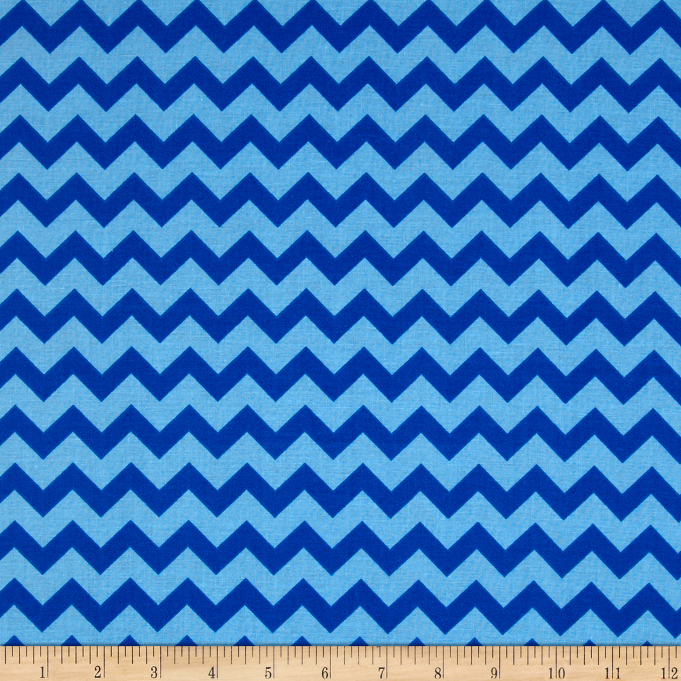 Chevron Tonal Royal/Blue Fabric