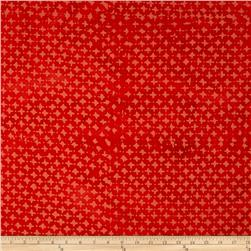 Indian Batik Hollow Ridge Dots Red