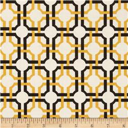 So Chic Interlocking Grid Black/Gold