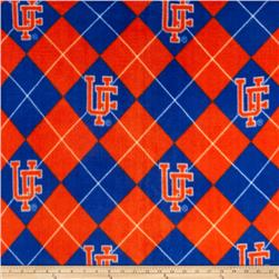 "Collegiate Fleece University of Florida Argyle ""F"" Logo Orange/Blue"