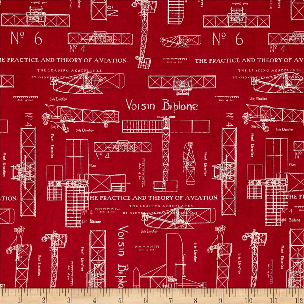 Theory of Aviation Blueprint Red