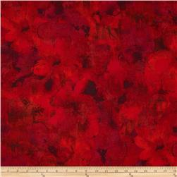Carnival Textured Floral Tonals Red