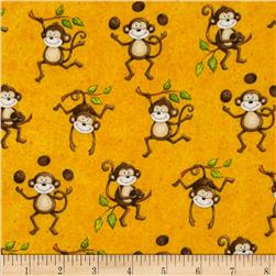 Monkey Mischief Monkey All Over Yellow