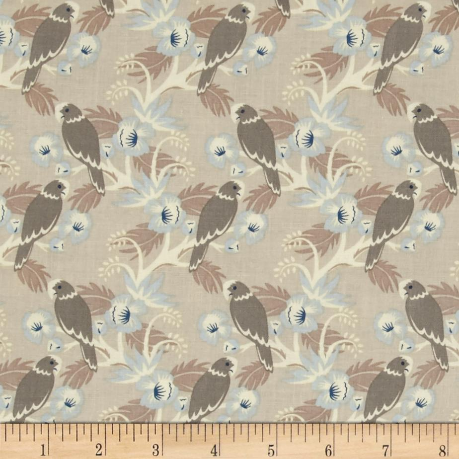 Penny Rose Forget Me Not Birds Tan