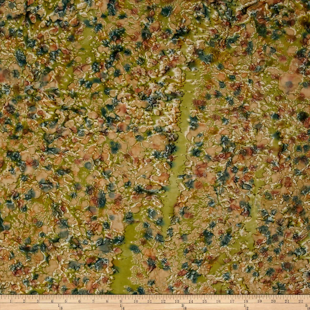 Indian Batik Lava Spray Hand-Dye Olive/Rust/Wine Fabric by Textile Creations in USA