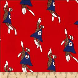 Moda Monkey Tales Super Monkey Red Fabric