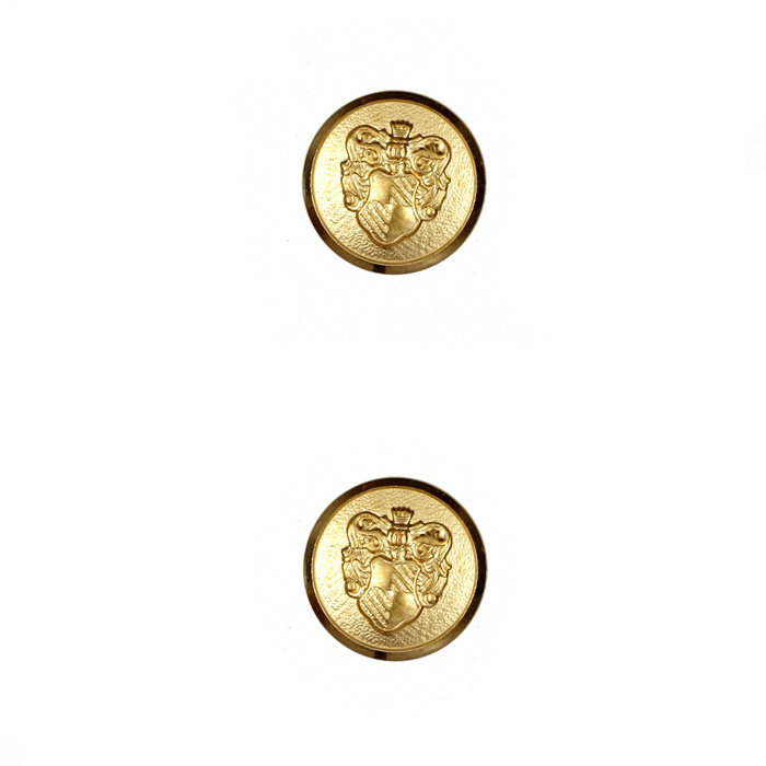Metal Button 5/8'' Ivy League Matte Gold