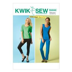 Kwik Sew Misses Tops Shorts and Pants Pattern