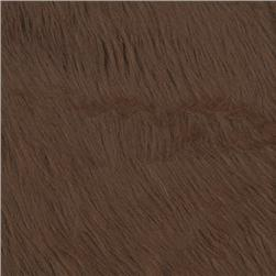 Faux Fur Luxury Shag Brown Fabric