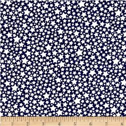 Michael Miller The Littles Starlettes Navy Fabric