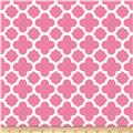 Riley Blake Medium Quatrefoil Pink