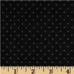 Riley Blake Black on Black Swiss Dot Fabric