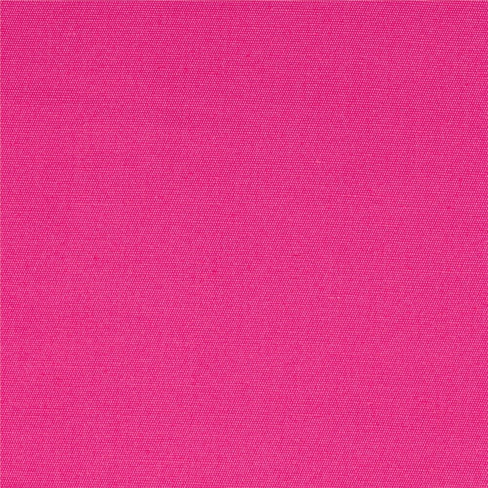 Stretch Woven Cotton Solid Hot Pink