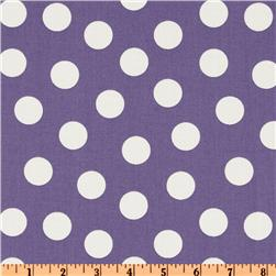Jane Sassaman Early Birds Poka Dot Plum