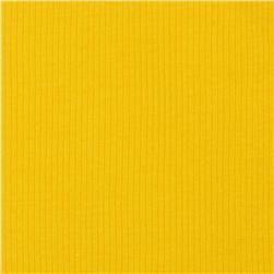 Cotton Rib Knit Bright Yellow