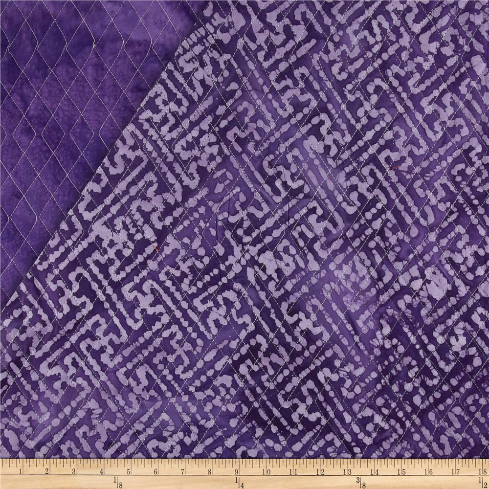 Indian Batik Double Sided Quilted Mesh Print Lavender/Purple