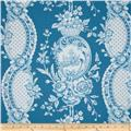 Tea Cakes Strawberry Toile Cornflower Blue