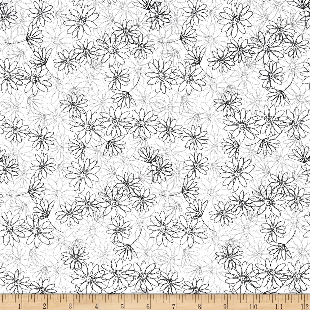 Floral Outline White