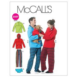 McCall's Misses'/Men'S/Teen Boys' Tops, Pants And Dog Blanket Pattern M6252 Size 0Y0