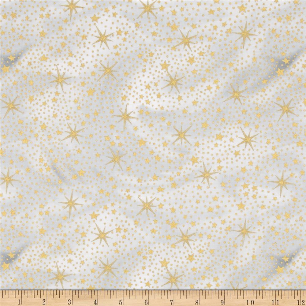 Nativity Metallic Stars Gold