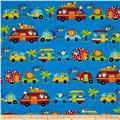 Jungle Camp Animals In Vehicles Light Blue