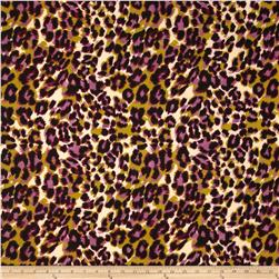 Jungle Safari Broadcloth Leopard Purple/Olive