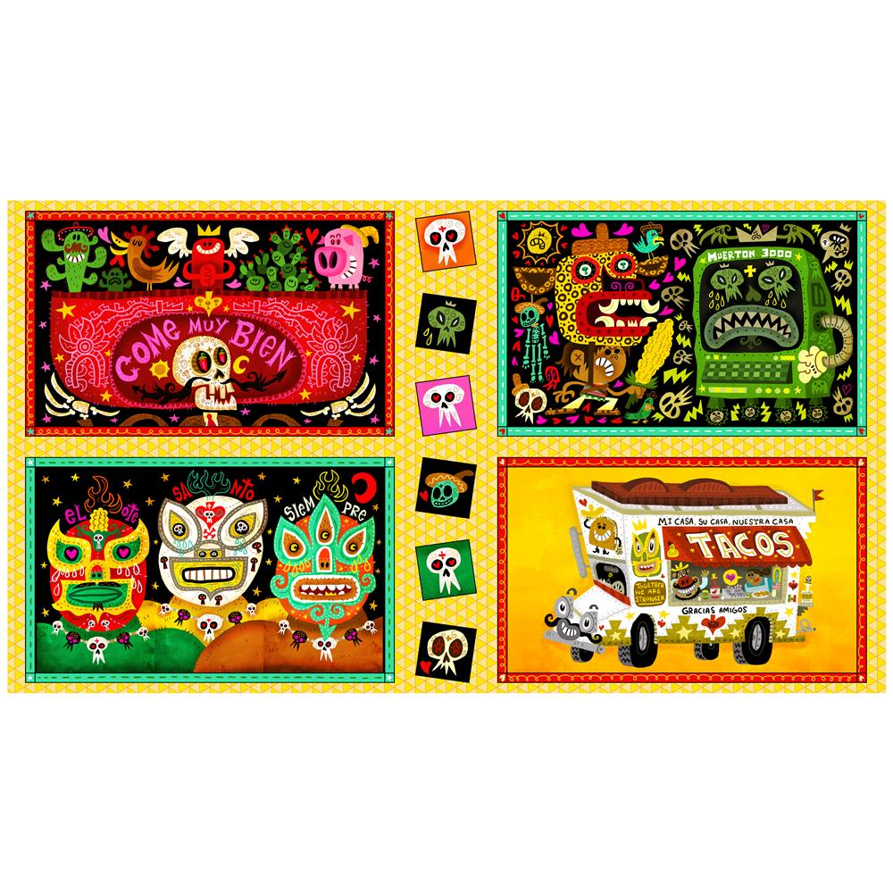 QT Fabrics Hot Tamale Large Foodie Patches 24\