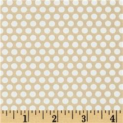 Moda Muslin Mates Polka Dots Natural Fabric