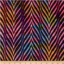 Indian Batik Urban Ethnic Stripe Metallic Pink/Purple