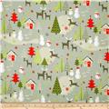 Riley Blake A Merry Little Flannel Scenic Grey