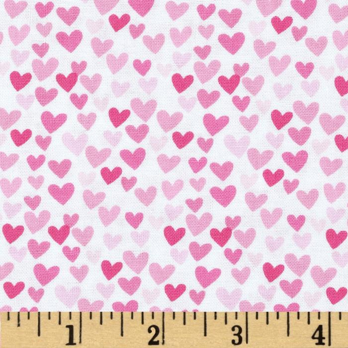 timeless treasures hearts pink discount designer fabric