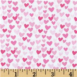 Timeless Treasures Hearts Pink Fabric