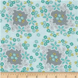 Sweet Harmony Small Floral Lace Aqua