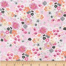 Timeless Treasures Flora and Fawn Floral Pink