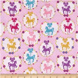Flannel Horse Light Pink
