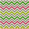 Premier Prints Zoom Zoom Chartreuse/Candy Pink