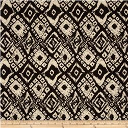 Rayon Challis Tribal Tile Black/Stone