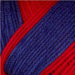 Red Heart Team Spirit Yarn (940) Red/Blue