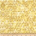 Robert Kaufman Winters Grandeur Metallic Honeycomb Grid Ivory