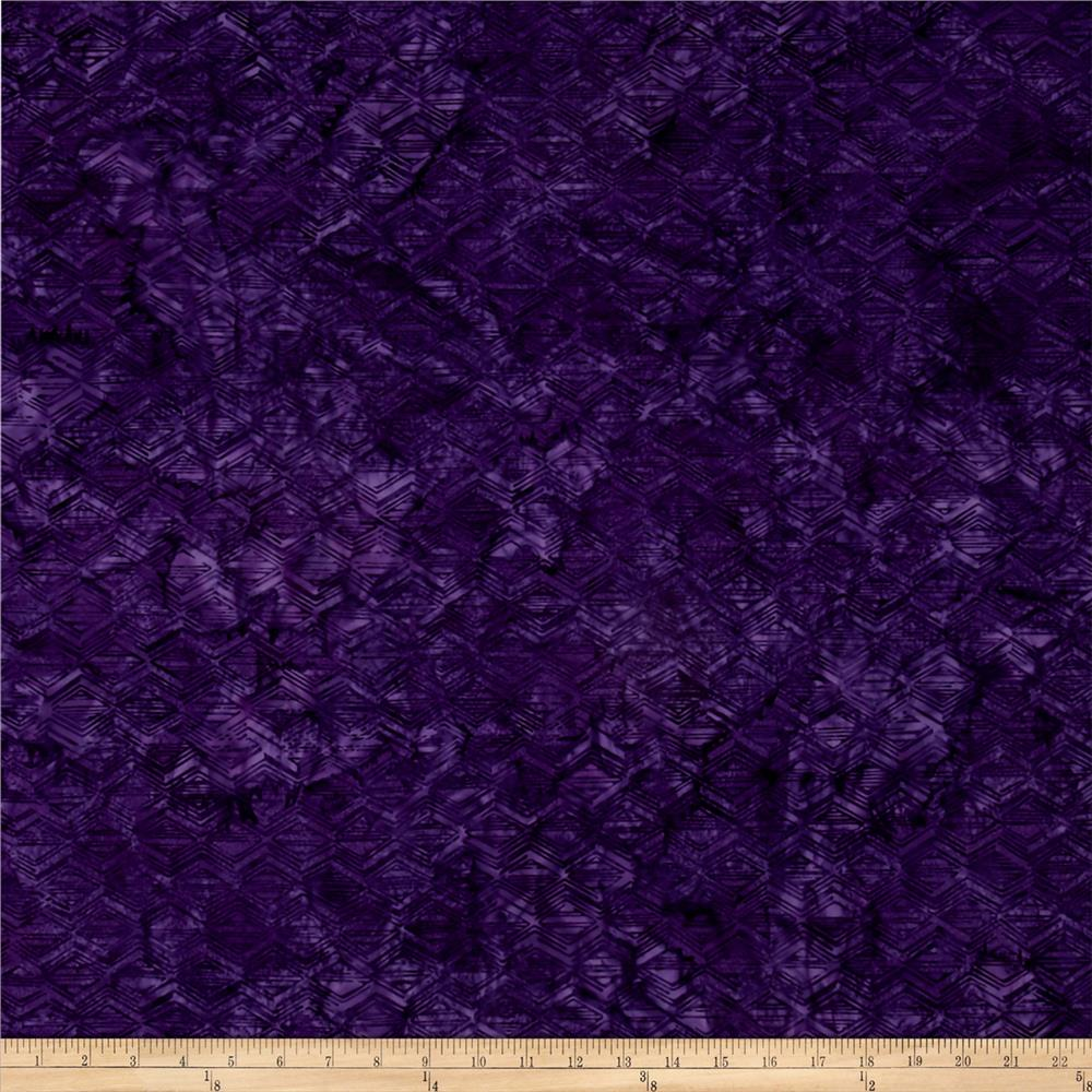 Bali Batiks Handpaints Geo Block New Grape