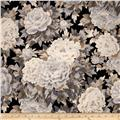 Robert Kaufman Imperial Collection Metallic Large Flowers Antique