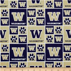 Collegiate Cotton Broadcloth University of Washington Gold Fabric