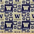Collegiate Cotton Broadcloth University of Washington Gold