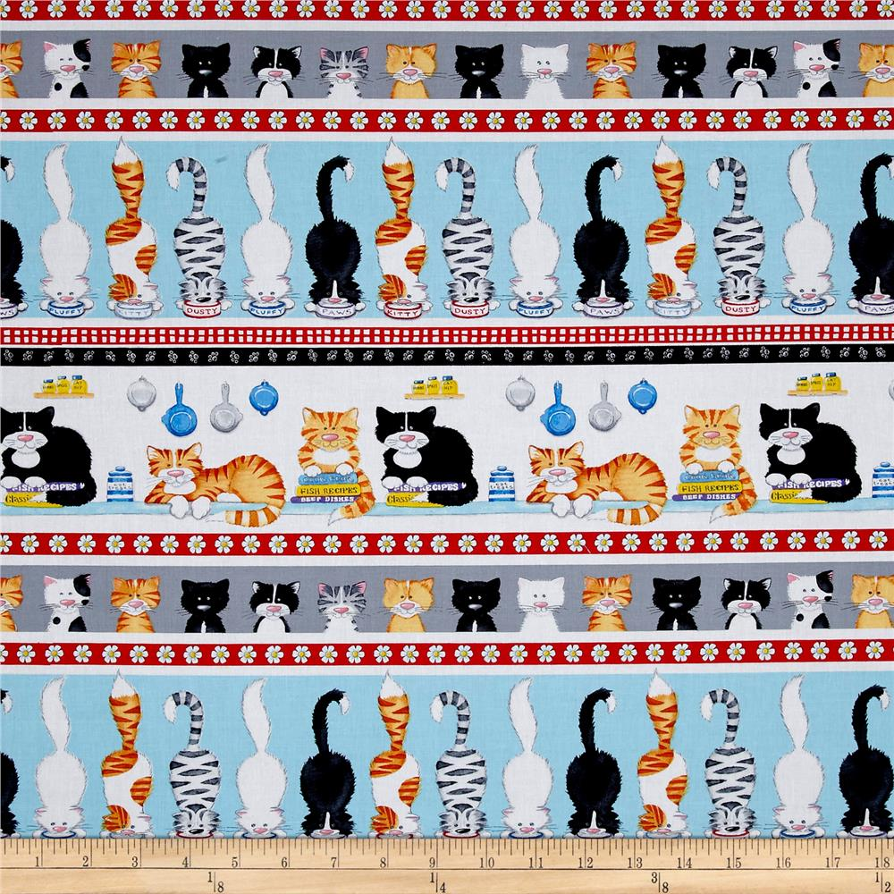 The Cat's Meow Large Cat Stripe Multi/White
